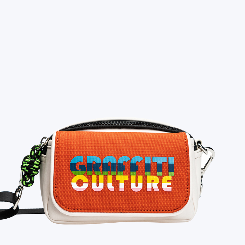 Fashion sporty small crossbody with colorful printing